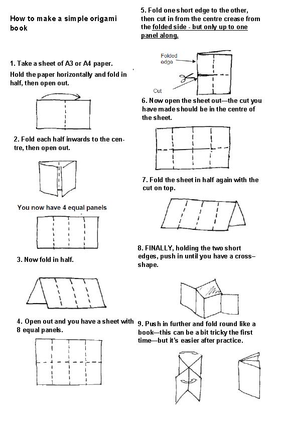 origami book diagram tutorial origami handmade