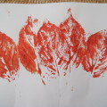 making leaf prints inspired by the story (1)